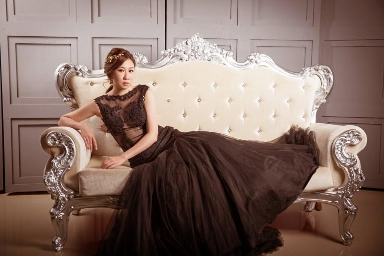 黑禮服造型|新娘妝髪|婚紗造型推薦-新秘ANNIE