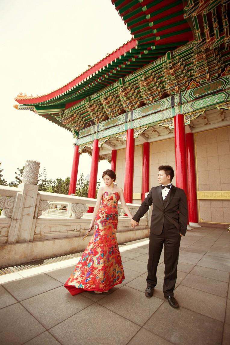 中國風婚紗|復古新娘妝髮|自助婚紗造型-新秘Annie